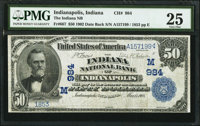 Indianapolis, IN - $50 1902 Date Back Fr. 667 The Indiana NB Ch. # (M)984