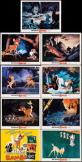 """Movie Posters:Animation, Bambi (Buena Vista, R-1975). Lobby Card Set of 9 (11"""" X 14"""").Animation.. ... (Total: 9 Items)"""