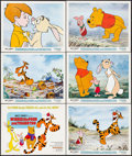 "Movie Posters:Animation, Winnie the Pooh and Tigger Too! (Buena Vista, 1974). Lobby Card Set of 6 (11"" X 14""). Animation.. ... (Total: 6 Items)"