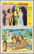 """Movie Posters:Comedy, Abbott and Costello Meet the Mummy (Universal International, 1955).Title Lobby Card & Lobby Card (11"""" X 14""""). Comedy.. ... (Total:2 Items)"""