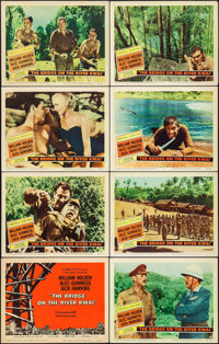 "The Bridge on the River Kwai (Columbia, 1958). Lobby Card Set of 8 (11"" X 14""). War. ... (Total: 8 Items)"