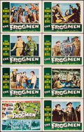 "Movie Posters:War, The Frogmen (20th Century Fox, 1951). Lobby Card Set of 8 (11"" X14""). War.. ... (Total: 8 Items)"