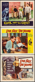 "Movie Posters:Bad Girl, Live Fast, Die Young & Other Lot (Universal International,1958). Title Lobby Card & Lobby Cards (2) (11"" X 14""). BadGirl.... (Total: 3 Items)"