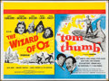 "Movie Posters:Fantasy, The Wizard of Oz/Tom Thumb Combo (MGM, R-1960s). British Quad (30"" X 40""). Fantasy.. ..."