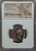 Ancients:Roman Provincial , Ancients: SYRIA. Antioch. Elagabalus (AD 218-222). BItetradrachm. NGC XF. ...