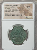 Ancients:Byzantine, Ancients: Anonymous, time of Basil II & Constantine VIII(1020-1028). Æ follis. NGC XF. ...