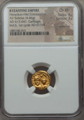 Ancients:Byzantine, Ancients: Heraclius (AD 613-641), with Heraclius Constantine. AVsolidus (4.46 gm). NGC Choice XF 4/5 - 3/5, scratches....