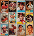 Baseball Cards:Lots, 1957-64 Topps Brooks Robinson and Frank Robinson Collection(12)....
