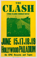 Music Memorabilia:Posters, Clash Hollywood Palladium Concert Poster (1982). Rare....