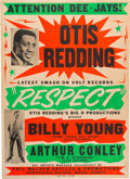 Music Memorabilia:Posters, Otis Redding Volt/Jotis Records Promotional Poster (Phil WaldenArtists & Promotions,1965). Very Rare....