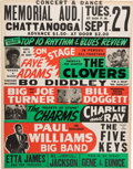 Music Memorabilia:Posters, Bo Diddley/Etta James Memorial Auditorium Concert Poster (1955).Extremely Rare....