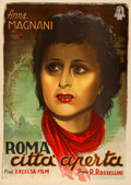 "Movie Posters:Foreign, Rome, Open City (Minerva, 1945). Italian Foglio (27.75"" X 38.5"").. ..."