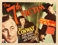 "Movie Posters:Mystery, The 7th Victim (RKO, 1943). Half Sheet (22"" X 28"") Style A.. ..."