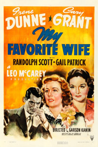 "My Favorite Wife (RKO, 1940). One Sheet (27"" X 41"")"