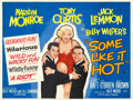 """Movie Posters:Comedy, Some Like It Hot (United Artists, 1959). British Quad (30"""" X 40"""").. ..."""