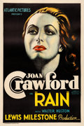 "Movie Posters:Drama, Rain (Atlantic, R-1938). One Sheet (27"" X 41"").. ..."