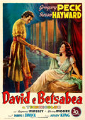 "Movie Posters:Drama, David and Bathsheba (20th Century Fox, 1951). Italian 4 - Fogli (55"" X 77.5""). Ballester Artwork.. ..."