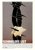 "Movie Posters:Drama, Schindler's List by Saul Bass (Universal, 1993). Alternate OneSheet (27"" X 39"").. ..."