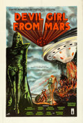 "Movie Posters:Science Fiction, Devil Girl from Mars (Spartan, 1955). British One Sheet (27"" X40"").. ..."