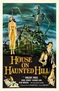 "Movie Posters:Horror, House on Haunted Hill (Allied Artists, 1959). One Sheet (27"" X41""). Reynold Brown Artwork.. ..."