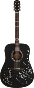 Musical Instruments:Acoustic Guitars, George Michael Signed Black Fender DG-11E DreadnoughtAcoustic/Electric Guitar (1998)....