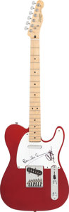 Musical Instruments:Electric Guitars, Beatles - Paul McCartney and Ringo Starr Signed 1989-90 FenderSquier Candy Apple Red Telecaster....