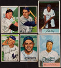 Baseball Cards:Lots, 1951-54 Bowman Baseball Stars & HoFers Collection (6)....