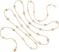 Estate Jewelry:Necklaces, Diamond, Gold Necklace. ... (Total: 0 Items)