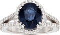 Estate Jewelry:Rings, Spinel, Diamond, White Gold Ring. ...