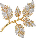Estate Jewelry:Brooches - Pins, Diamond, Platinum, Gold Brooch, Schlumberger Studios, Tiffany & Co.. ...