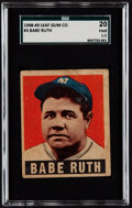 Baseball Cards:Singles (1940-1949), 1948 Leaf Babe Ruth #3 SGC 20 Fair 1.5....