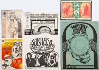Rock Concert Handbills and Fliers Group of 6 (Various Publishers, 1960s-70s) Condition: Average VF/NM.... (Total: 6 Item...