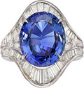 Estate Jewelry:Rings, Tanzanite, Diamond, Platinum Ring. ...
