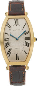 Estate Jewelry:Watches, Cartier Lady's Gold Tonneau Watch. ...
