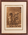 Movie/TV Memorabilia:Photos, A Bruce Willis Owned Vintage Native American Photo by Edward S.Curtis, 1925....
