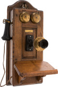 Movie/TV Memorabilia:Memorabilia, A Steve McQueen Wooden Crank Telephone, Circa 1920s....