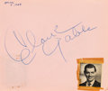 Movie/TV Memorabilia:Autographs and Signed Items, A Group of Autograph Books Signed by Charlie Chaplin, Gary Cooper,Errol Flynn, Clark Gable, Frank Sinatra and Many Others, Ci...(Total: 3 )