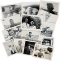 Movie/TV Memorabilia:Photos, A Collection of Never-Before-Seen Black and White Snapshots ofMovie Stars, Circa 1951....