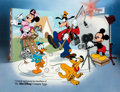 Animation Art:Color Model, Disney Cal Arts Sericel featuring Mickey, Donald, Goofy, Minnie,and Pluto (Disney, c. 1990s)...