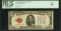 Fr. 1526* $5 1928A Legal Tender Note. PCGS Very Fine 20