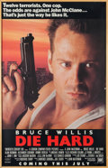 "Movie/TV Memorabilia:Posters, A Bruce Willis Owned Movie Poster of ""Die Hard.""..."
