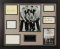 Movie/TV Memorabilia:Autographs and Signed Items, A Bruce Willis Owned Collection of Rat Pack Signatures....