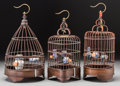 Asian, Three Small Chinese Birdcages. 10-3/4 inches high (27.3 cm)(tallest). ... (Total: 3 Items)