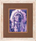 Movie/TV Memorabilia:Photos, A Bruce Willis Owned Photo of Sitting Bull by Edward S. Curtis....