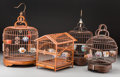 Asian:Chinese, A Group of Four Chinese Birdcages. 15-3/8 inches high (39.1 cm).... (Total: 4 Items)