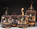 Asian, A Group of Four Chinese Birdcages. 22-1/4 inches high (56.5 cm)(tallest). ... (Total: 4 Items)