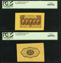 Fractional Currency:First Issue, Fr. 1282SP 25¢ First Issue Wide Margin Pair PCGS Gem New 66PPQ..... (Total: 2 notes)