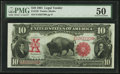 Large Size:Legal Tender Notes, Fr. 120 $10 1901 Legal Tender PMG About Uncirculated 50.. ...