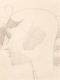 Fine Art - Work on Paper:Drawing, Elie Nadelman (American, 1882-1946). Ideal Head (2), circa1920. Pencil on paper. 11 x 8-1/2 inches (27.9 x 21.6 cm) (sh...