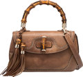 "Luxury Accessories:Bags, Gucci Brown Leather & Bamboo Top Handle Bag. ExcellentCondition. 10.5"" Width x 6"" Height x 3.5"" Depth. ..."